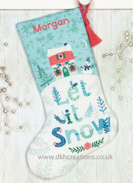 Holiday Home Stocking Cross Stitch Kit